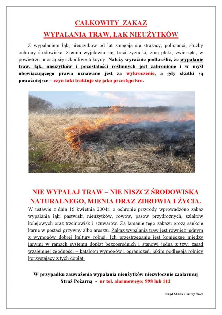 zakaz wypalania łąk