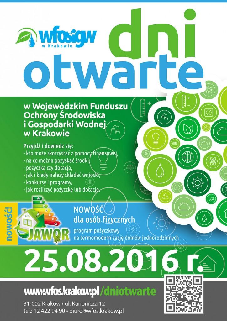 Dzień Otwarty w WFOŚiGW w Krakowie - 25 sierpnia 2016