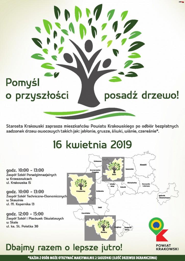 Plakat posadź drzewa