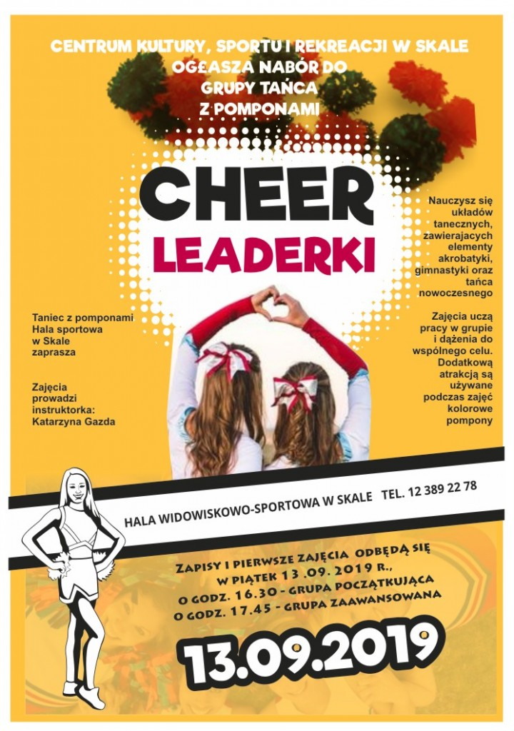 cheerleaderki, cheerleaders, plakat 2019-20