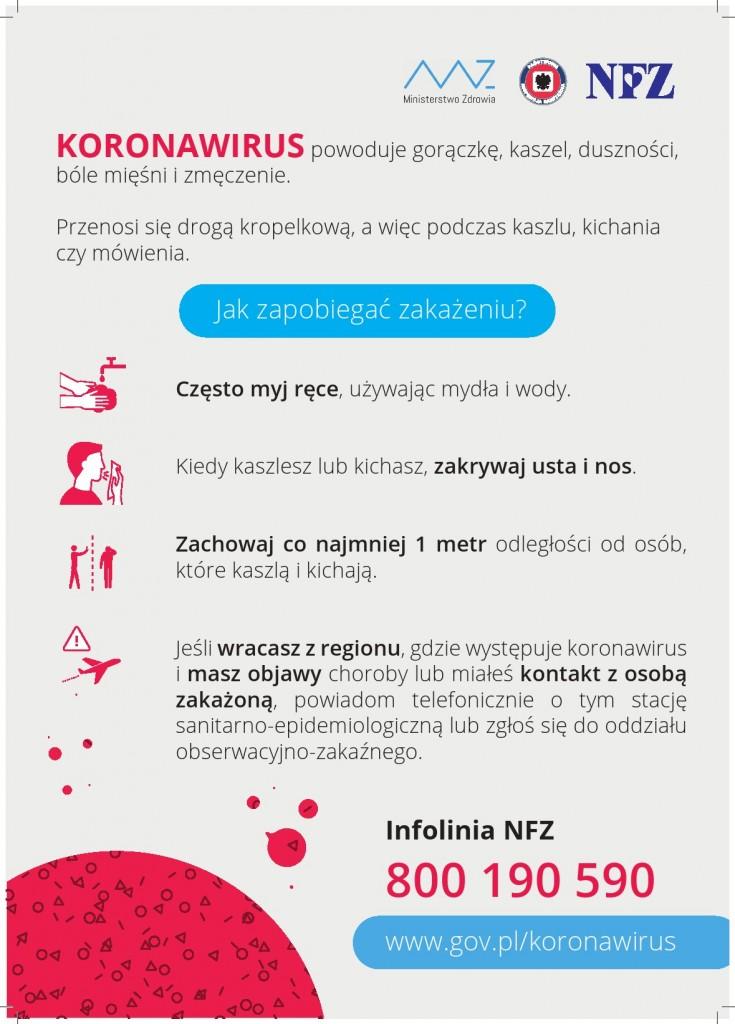 Kampania edukacyjna Ministerstwa Zdrowia w sprawie koronawirusów