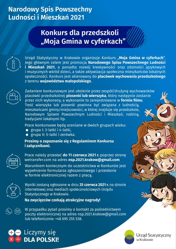 Plakat Moja Gmina w cyferkach